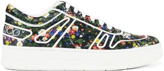 Jimmy Choo Hawaii floral-print low-top sneakers
