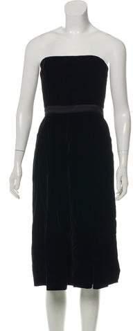 Gucci Strapless Velvet Dress