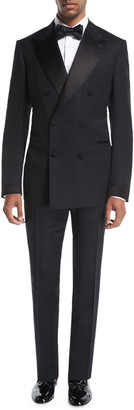 Tom Ford Shelton Base Double-Breasted Tuxedo Suit