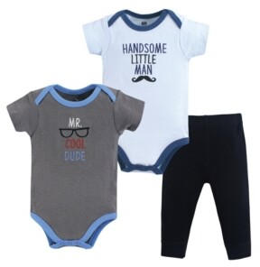Hudson Baby Baby Girl 2 Bodysuit and Pants Set