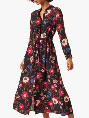 French Connection Eloise Floral Shirt Dress, Utility Blue/Multi