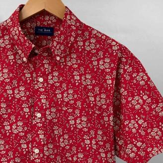 Tie Bar Liberty Capel Floral Red Short Sleeve Shirt