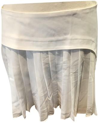 Rue Du Mail White Cotton Skirt for Women