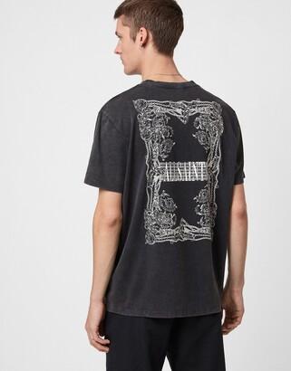 AllSaints Filgree T-shirt in black