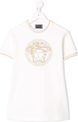 Versace Medusa jersey dress