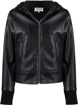 Maison Margiela Faux-Leather Hooded Jacket