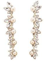 Charlotte Russe Rhinestone Cluster Drop Earrings