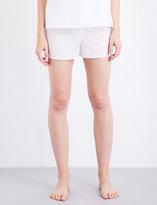 Bodas Cotton and silk-blend pyjama shorts