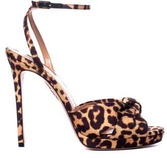 Aquazzura Chance Leopard Sandal