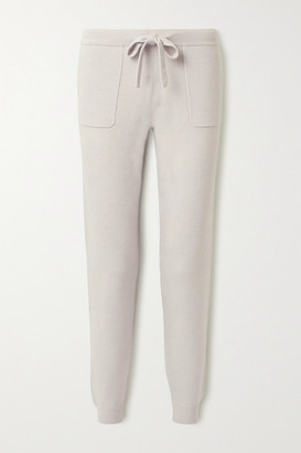 Allude Wool And Cashmere-blend Track Pants - Light gray