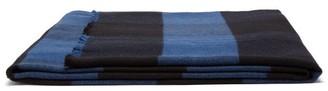 Tekla Fabrics - Checked Extra-large Merino-wool Blanket - Blue Multi