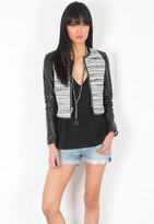 Singer22 Emerson Thorpe Leather Tweed Combo Jacket in Tweed