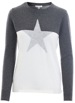 Minnie Rose Cable Star Cashmere Sweater - 18530