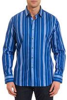 Robert Graham Checkered Stripes Sports Shirt