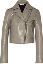 Alexander Wang Textured-leather biker jacket