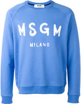 MSGM logo print sweatshirt - men - Cotton - L