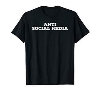 IDEA ANTI SOCIAL MEDIA Funny Geek Nerd Internet Gift T-Shirt