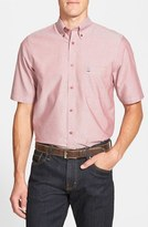 Nordstrom Men's Smartcare(TM) Regular Fit Short Sleeve Sport Shirt