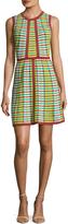M Missoni Women's Intarsia Crewneck Flared Dress