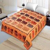Jaipur Textile Hub Barmeri Hand Block Embroidery Bedspread Designer Throw Vintage Bedding Bed Cover ( JTH-BB-4 )