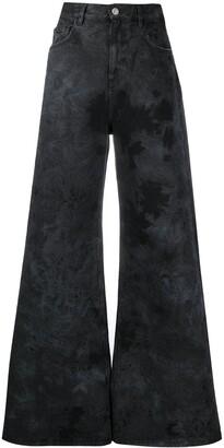 ATTICO Tie-Dye Wide-Leg Jeans