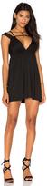 Rachel Pally Cuff Sleeve Empire Mini Dress