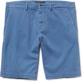 Dolce & Gabbana - Slim-fit Garment-dyed Stretch-cotton Twill Shorts