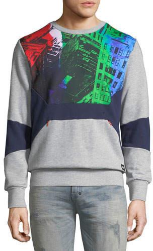 PRPS Men's Graphic Fleece Sweatshirt with Pocket