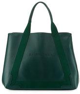 Balenciaga Navy Cabas Medium Leather Tote Bag, Green