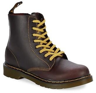 Dr. Martens Little Kid's & Kid's Oxblood Pablo Leather Boots
