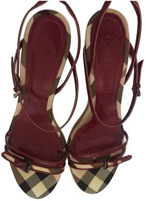 Burberry Red Patent leather Espadrilles