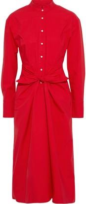 Proenza Schouler Tie-front Cotton-blend Poplin Shirt Dress