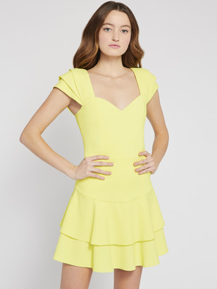 Alice + Olivia Brinda Pleated Sleeve Mini Dress