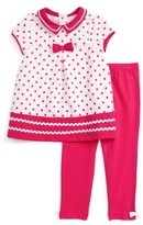 Little Me Infant Girl's Dress & Leggings Set