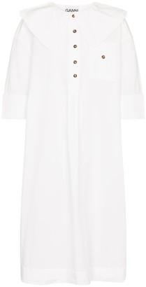Ganni Cotton poplin midi dress