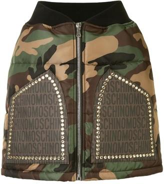 Moschino Camouflage Zip Skirt