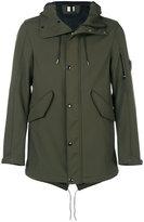 C.P. Company lens detail hooded jacket - men - Cotton/Polyester/Spandex/Elastane - 48