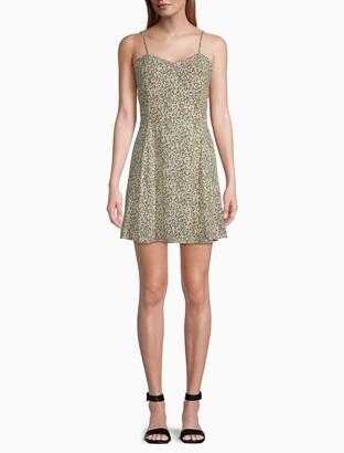 Calvin Klein Printed Mini Skater Dress