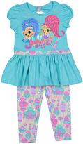 Children's Apparel Network Green Shimmer & Shine 'It's Magic' Tee & Leggings - Toddler