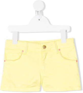 Billieblush Contrast-Stitch Denim Shorts