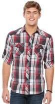 Rock & Republic Men's Plaid Roll-Sleeve Button-Down Shirt
