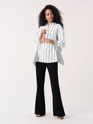 Diane von Furstenberg Desiree Woven Open-Back Shirt