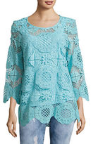 Ruby Rd Medallion Lace Tunic