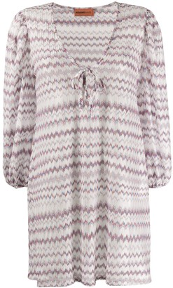 Missoni Mare Metallic Chevron-Print Dress