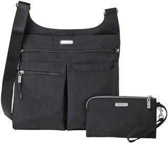 Baggallini On Track Zip Crossbody Handbag w/ Phone Wristlet