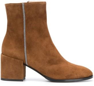 Fabiana Filippi Block Heel Bead Embellished Boots