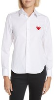 Comme des Garcons Women's Red Heart Cotton Shirt