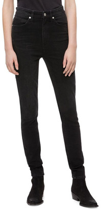 Calvin Klein Jeans HR SKINNY Denver WASHED BLACK
