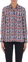 Etoile Isabel Marant Women's Gaetan Batik-Inspired Cotton Shirt-WHITE