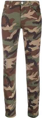 P.A.R.O.S.H. Camouflage-Print Skinny Jeans